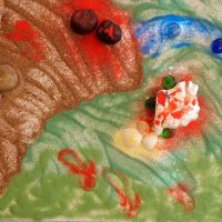 Création éphémère en EHPAD - travail avec le sable